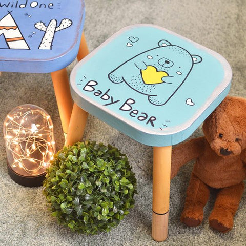 'Baby Bear' Wooden Stool