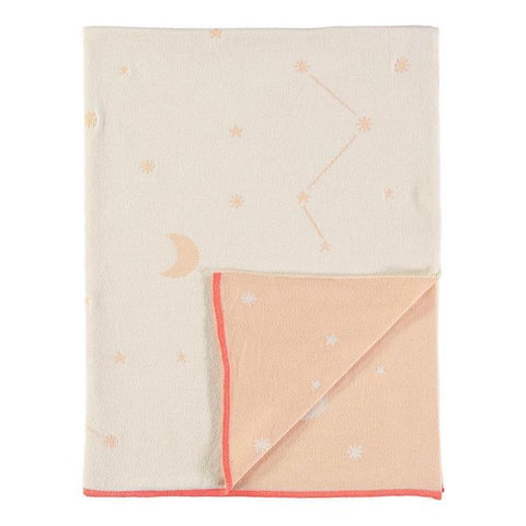 Constellation Knit Blanket Pink