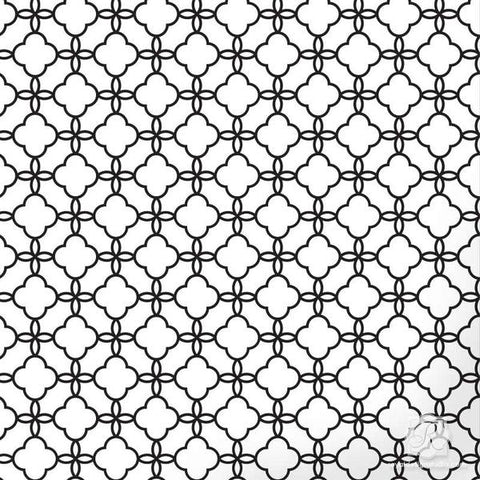 Eastern Lattice Moroccan Stencil