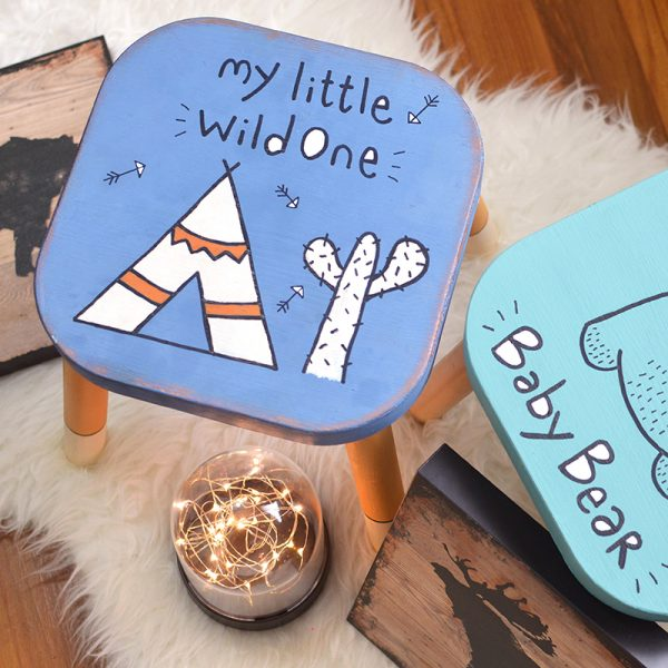'My Little Wild One' Wooden Stool
