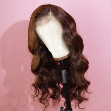 Load image into Gallery viewer, Preferred Human Brown Lace Front Wigs Body Wave Long Straight Remy Hair for Women