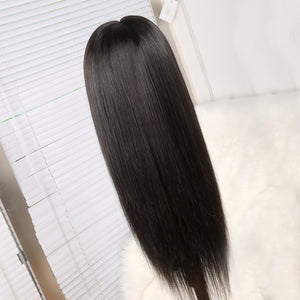Preferred Human Hair Black Straight Lace Front Wigs 13*4 Remy Hair for Women