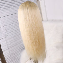 Load image into Gallery viewer, Preferred Hair 613 Ombre Long Straight Human hair Lace Front Wigs for Women