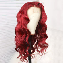 Load image into Gallery viewer, Preferred Hair Red Body Wave Human Hair Lace Front Wig for Women