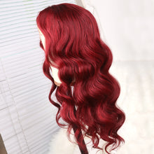 Load image into Gallery viewer, Dark Red Body Wave Human Hair Lace Front Wig for Women