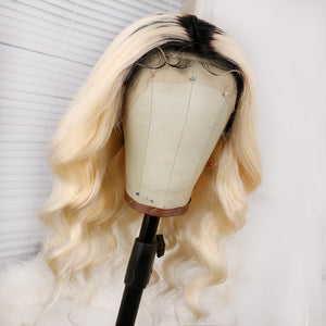Preferred Loose Wave Wig Hair  Brazilian Ombre 613 Lace Front Wig Cord with the baby's Hair Wig