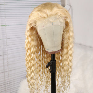 Preferred Loose Wave Wig Hair Brazilian 130% Density 613 Front Wig Cord with Baby's Hair Blonde Wig