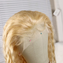 Load image into Gallery viewer, Preferred Loose Wave Wig Hair Brazilian 130% Density 613 Front Wig Cord with Baby's Hair Blonde Wig