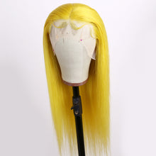 Load image into Gallery viewer, Preferred Human Hair Yellow Firefly Color Straight Lace Front Wigs for Women