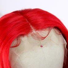 Load image into Gallery viewer, Preferred Hair Red Brazilian Human Hair Wig Straight  Wigs with Baby Hair Wigs for Women