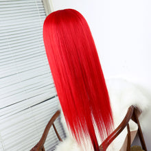 Load image into Gallery viewer, Vivid Red Remy Human Hair Wig with Lace Front and Baby Hair