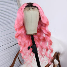 Load image into Gallery viewer, body-wave-pink-human-hair-wig-1