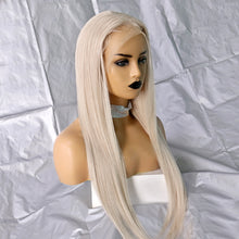 Load image into Gallery viewer, Supreme Silk | White Gray Lace Front Wig of Brazilian Human Hair