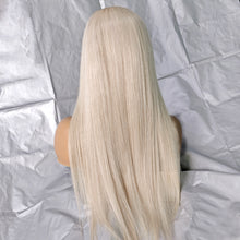 Load image into Gallery viewer, Bargain Products Preferred Hair Gray Brazilian Long Straight Wig of Human Hair with Baby Hair  Lace Front Wig for Women