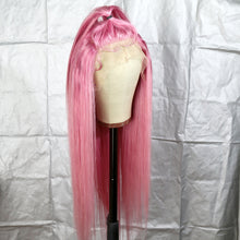 Load image into Gallery viewer, Preferred Hair Pink Brazilian Remy Human Hair Wig Straight  Wigs with Baby Hair Wigs for Women