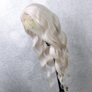 Preferred Human Hair White Gray Lace Front Wigs Body Wave Long Remy Hair for Women