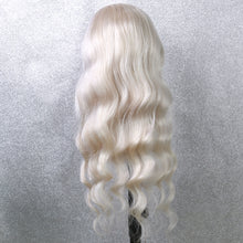 Load image into Gallery viewer, Preferred Human Hair White Gray Lace Front Wigs Body Wave Long Remy Hair for Women