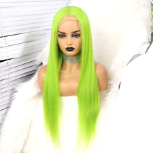 Load image into Gallery viewer, Preferred Hair Human Green Lace Front Wigs Straight Brazilian Human Hair Lace wigs for Women