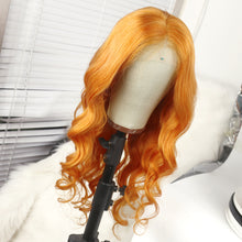 Load image into Gallery viewer, Preferred Lace Front Human Hair Orange Yellow Body Wave Wigs for Women