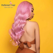 Load image into Gallery viewer, pink-human-hair-wig-2