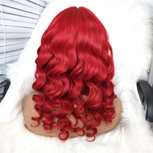 Load image into Gallery viewer, Body Wave Red Human Hair Wig with Lace Front for Women