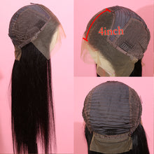 Load image into Gallery viewer, Preferred Human Black Ombre Red Lace Front Wigs Long Straight Remy Hair for Women