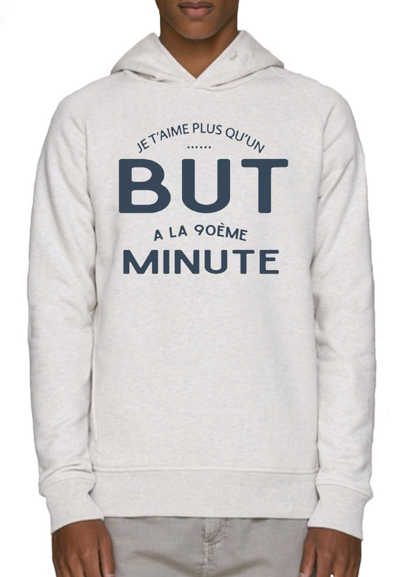 Sweat-shirt à capuche Je t'aime plus que