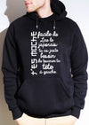 Sweat-shirt à capuche t'es moche