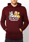 Sweat-Shirt à capuche Les potes avant les culottes version cartoon