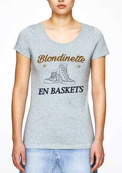 T-shirt Blondinette en baskets
