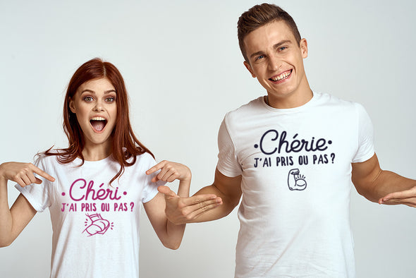 T-shirt Couple j'ai pris ou pas ?
