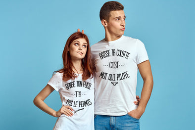 T-shirt Couple range ta culotte