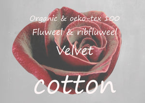 organic cotton& oeko tex velours VELVET