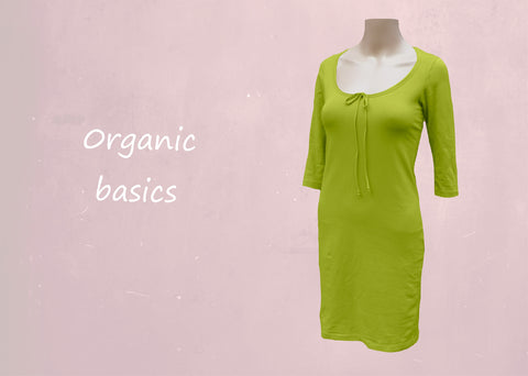 T shirt tube jurkje organische katoen / organic cotton basic t shirt pencil dress