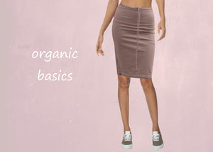 Basic organic tricot koker rokje / jersey pencil skirt