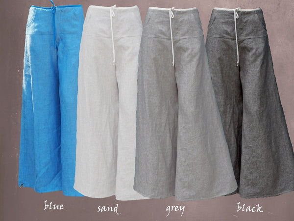 zomerbroek van linnen chambray / summer pants linen chambray