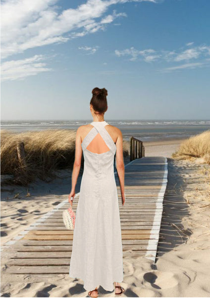 linnen maxi zomerjurk / linen summer dress