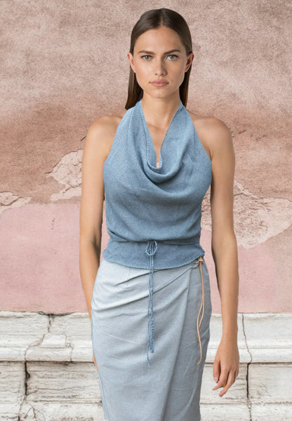 Wrap rokje recycled denim/tencel   / Wrap skirt recycled denim/tencel
