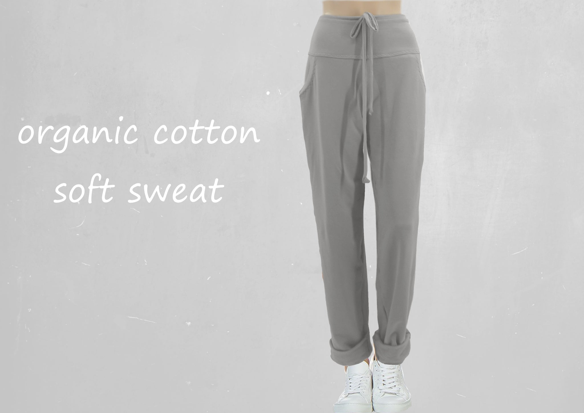 Sweat broek van soft sweat bio katoen /Sweat pants made of soft sweat organic cotton