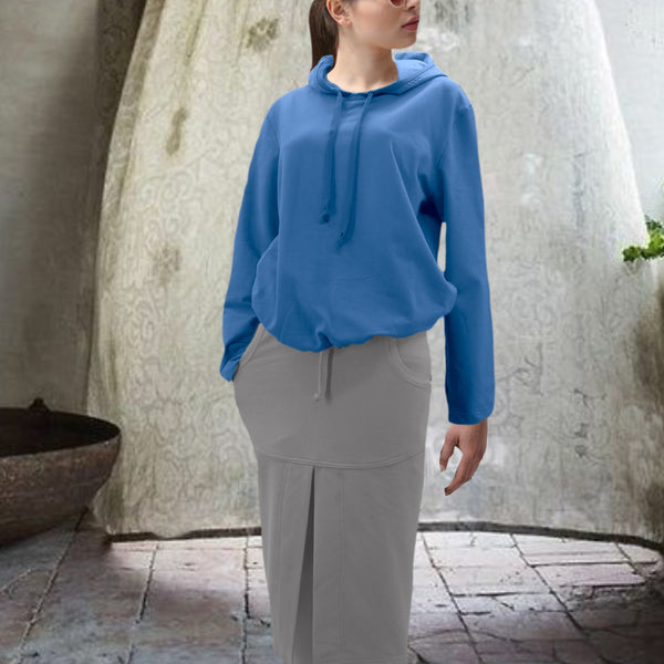 Midi rok van soft sweat bio katoen / Midi skirt made of soft sweat organic cotton