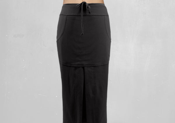 Sportieve maxi rok van soft sweat bio katoen / Sportive maxi skirt made of soft sweat organic cotton