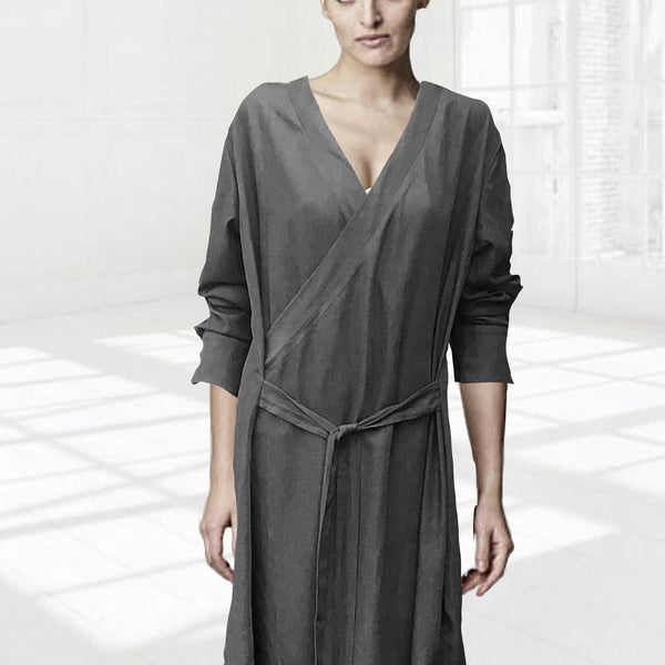 Tencel overslag tuniek jurkje / Tencel wrap tunic dress