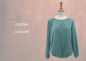 Velours sweater/ Velvet sweater