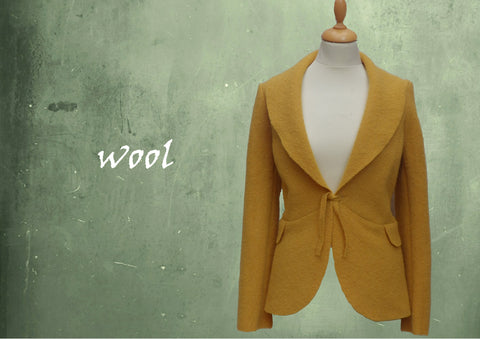 Wollen vest-jasje / cardigan-jacket in boiled wool
