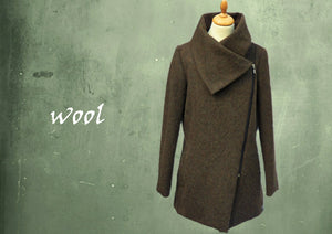 Sportieve wollen winter jas / Sportive wool zipper coat