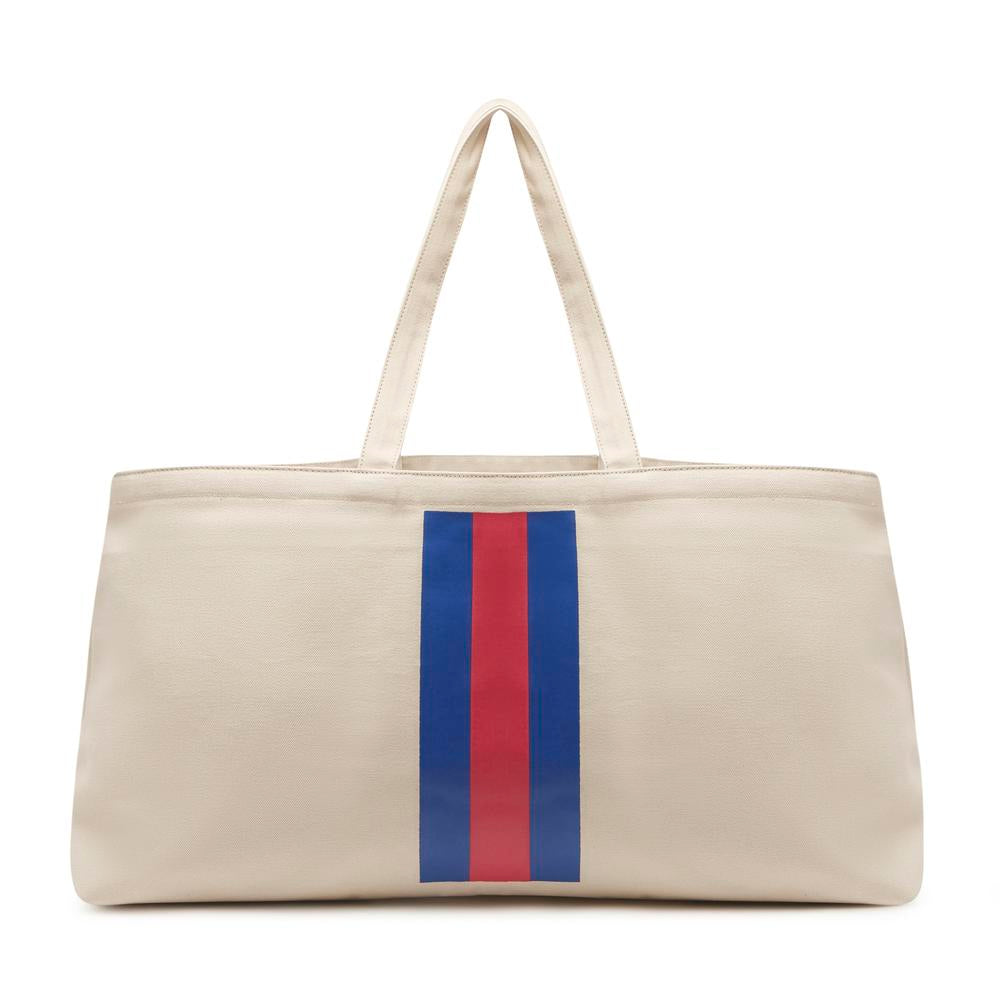 THE GRAND JAC TOTE-100% CANVAS WITH STRIPE