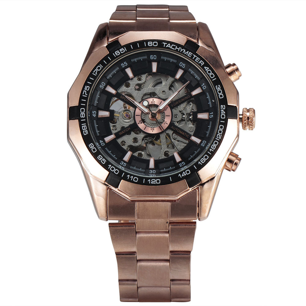 Winner Watch Sport Design Bezel Gold Silvery Watch Mens Watches Top Brand Luxury Montre Homme Clock Men Automatic Skeleton Watch - Bara Jan Store