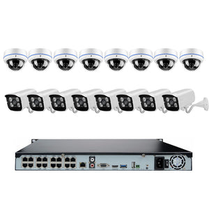 16CH 1080P 48V POE NVR KIT 2.0MP CCTV System 16pcs POE IP Camera Onvif P2P Outdoor/Indoor Security Surveillance FTP