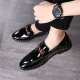 2018 New Leather Loafers Men Casual Shoes Fashion Top Quality Driving Moccasins Slip On Loafers Men Flat Shoes Comfortable