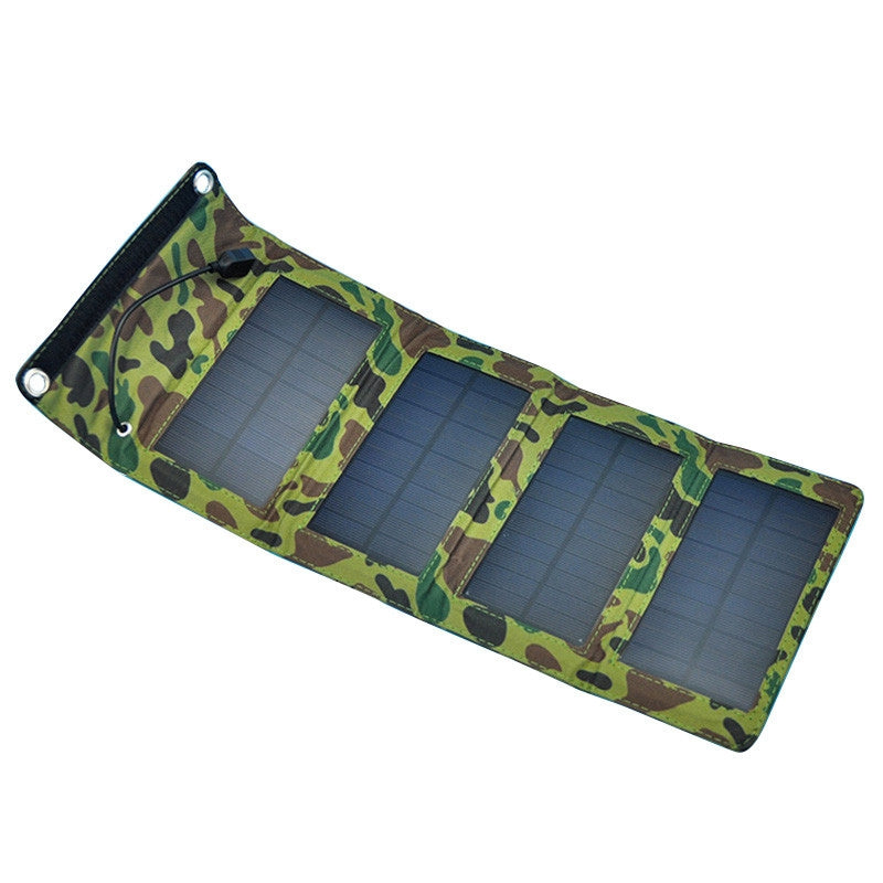 Portable 7W Outdoor Solar Panel Foldable Camping Travel Solar Charger For Cellphone Mobile Tablet Kits USB Battery Charging Pack